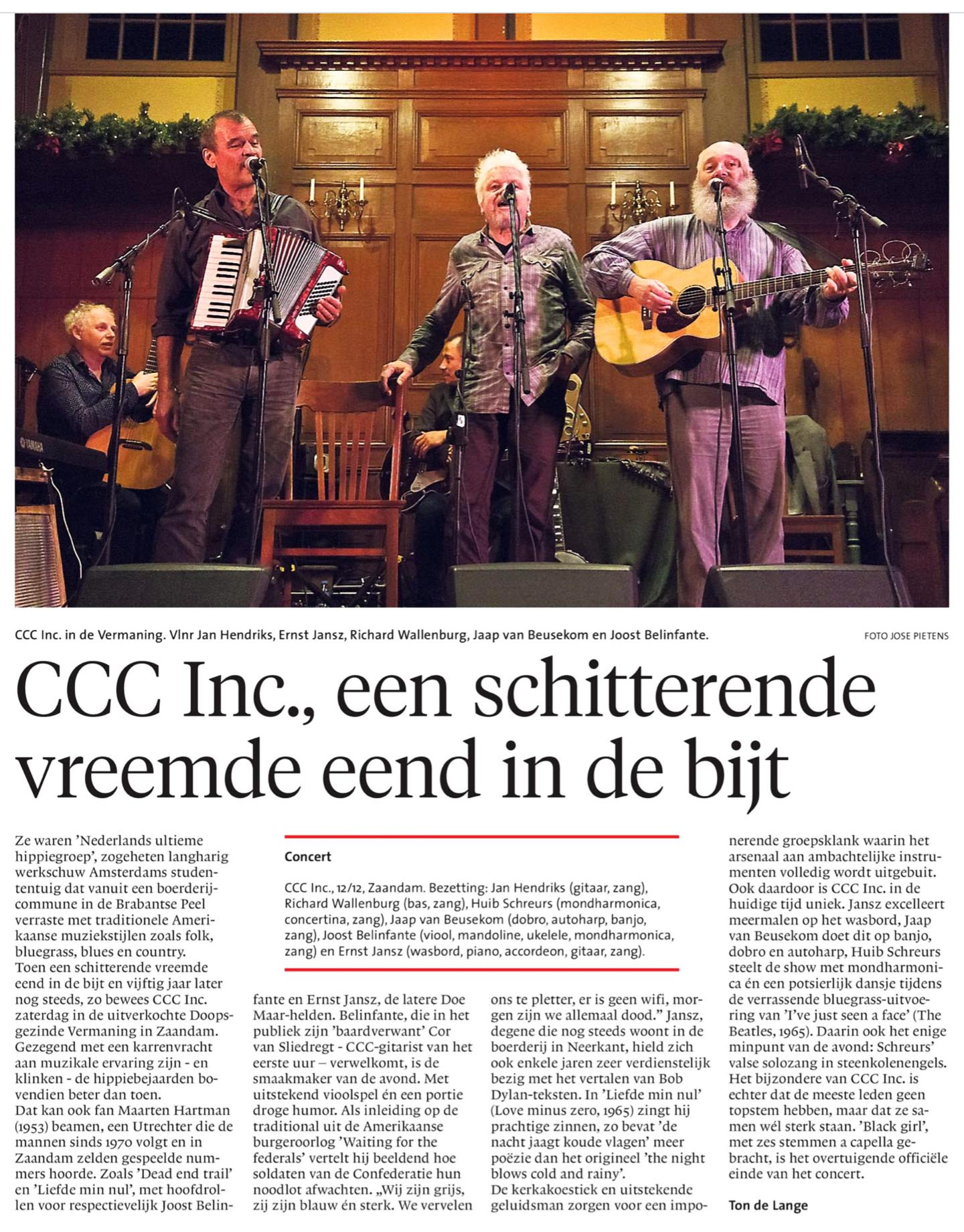 artikel NH dagblad 14 december 2015